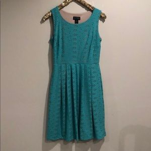 lacey turquoise dress